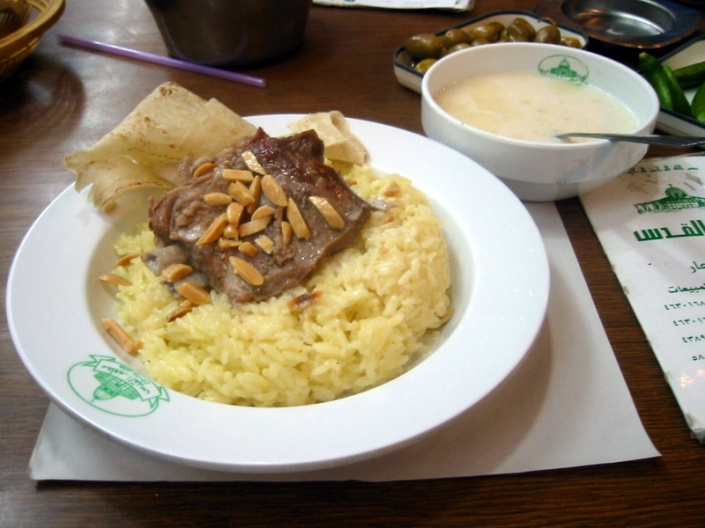The great Mansaf from Al-Quds Restaurant