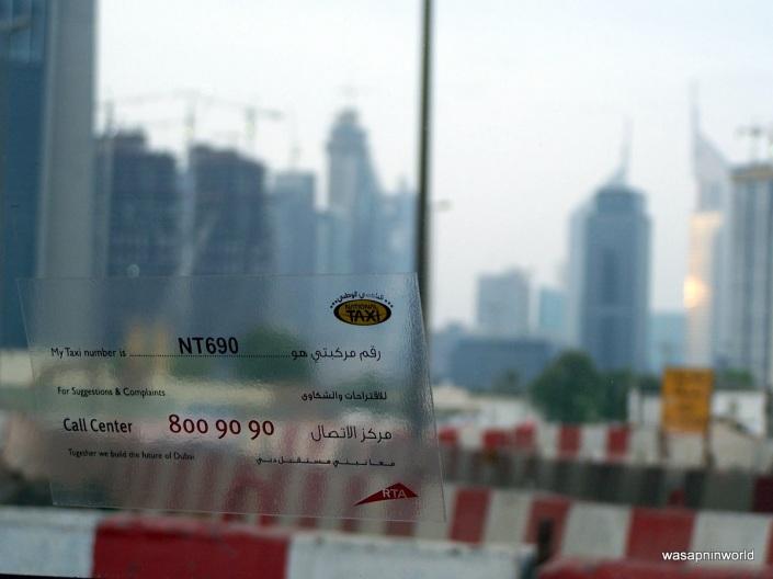 Dubai taxi drive