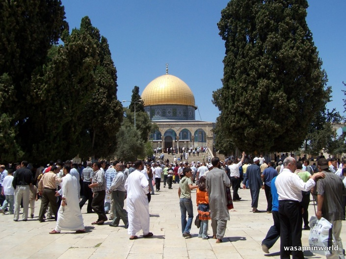 Coming from Jummah at Masjid Al Aqsa