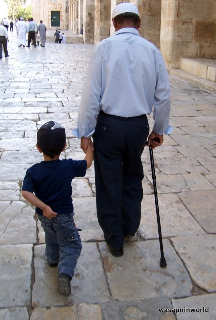 Going to Jummah at Masjid Al Aqsa